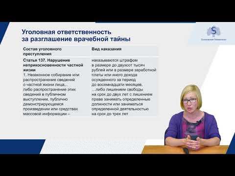 3.2 Ответственность за разглашение врачебной тайны - Юлия Владимировна Павлова