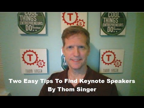 Keynote Speakers - 2 easy tips to find great speakers for your next event