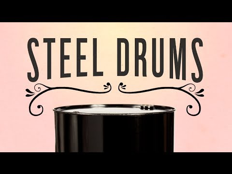 "Steel Drums 55 Gallon Black Open Head Unlined Steel Drum w/ Cover and Lever Lock Ring, 2"" and 3/4"" Fittings"