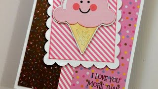 CRICUT ICE CREAM CONE BIRTHDAY CARD SKETCH #8