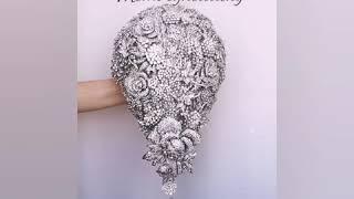 Brooch Bouquet, Wedding Bouquet, Luxury Wedding, Jewelry Wedding, Jeweled Bouquet, Crystal Bling
