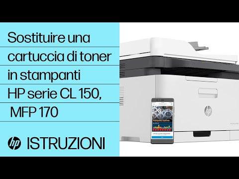 Come sostituire una cartuccia di toner in stampanti HP serie Color Laser 150, MFP 170