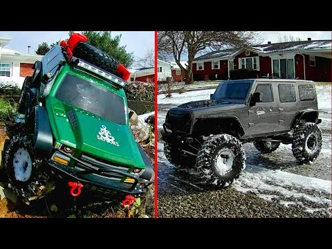 Winter Crawling In Snow Redcat Racing Everest Gen7 & RGT RC EX86100 4WD 1/10 Scale - TheRcSaylors