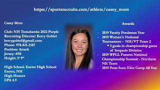 Casey More 2022 Lacrosse Highlight Video 2019