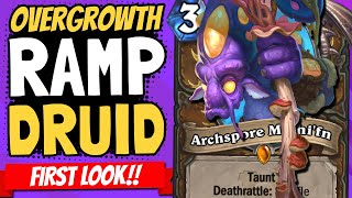 SO MUCH MANA!! New Ramp Druid Can Go CRAZY (sometimes)! | Ashes of Outland | Hearthstone
