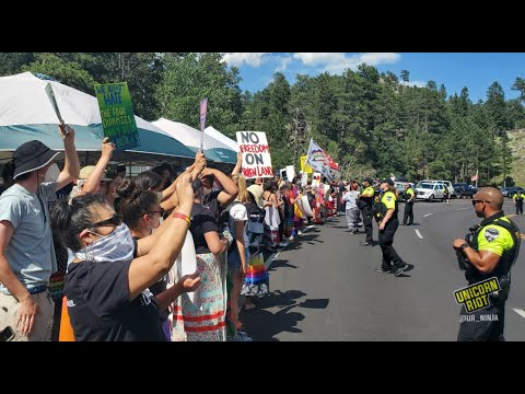 [LIVE] Indigenous Activists Assert Right to Unceded Land At Anti-Trump Protest