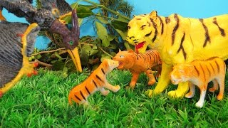 МЫ, ЧТО ТИГРЫ???? Динозавры и тигры спешат на помощь. Мультики для детей