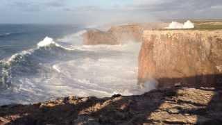 Hercules 2014: Huge waves in Sagres, Portugal (Cabo São Vicente) 6/1/14