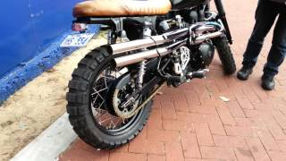 Triumph Scrambler With British Customs Shotgun Exhaust At Lloyd Chapman Motorcycles