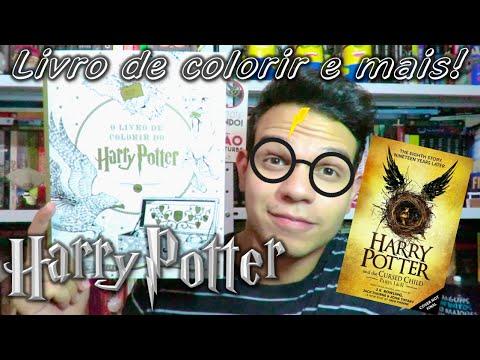 O Livro de Colorir de Harry Potter + Crianc?a Amaldic?oada em livro! | Cultura e Pro?xima Leitura