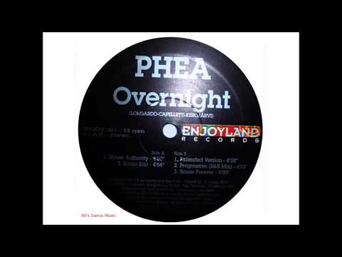 Phea - Overnight (Extended Version) (90's Dance Music)
