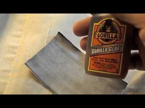 How to use Brown Gorilla Glue to Patch Air Bed Leaks Busted Seams in Sleep Number® Bed Air Chambers