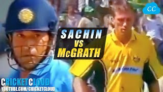 SACHIN'S ATTACK ON McGRATH   FULLY FIRED UP   Want to Smash Every Ball !!
