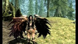 Darkhorinis : Обзор мода для Skyrim: Daedric Evil Eagle Armor / Даэдрическая броня Добра и Зла