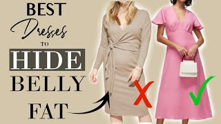The BEST Dresses To HIDE BELLY FAT And Still Look ELEGANT | Classy Outfits For Women