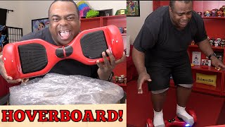 FAT GUY FALLS OFF HOVERBOARD!