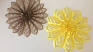 Объемная снежинка из бумаги своими руками//Paper snowflakes handmade