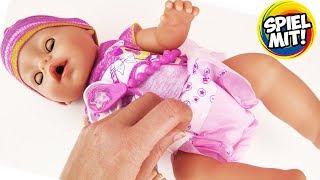 BABY BORN PUPPE FÜTTERN + WICKELN - Was ist bei Baby Born alles dabei & welche Funktionen hat sie?