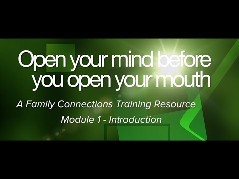 Open Your Mind Before You Open Your Mouth - Module One - Introduction