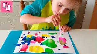 КЛЯКСОГРАФИЯ для детей Выдувание через трубочку TÉCNICA DE SOPLADO de Pintura para niños