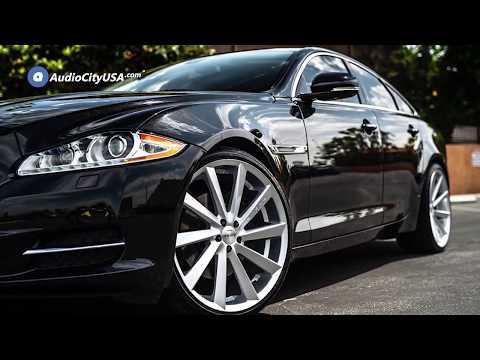 Jaguar XJ 22″ Staggered Koko Kuture Wheels Kapan Gloss Silver Rims   AudioCityUSA