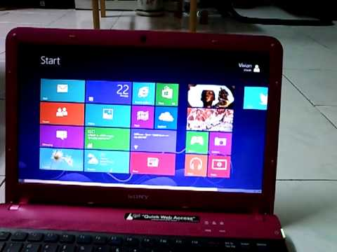 Windows 8 Pro on SONY VAIO E-Series VPCEA45FG