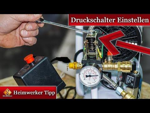 Druckschalter einstellen Anleitung für Kompressoren
