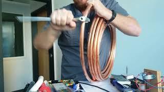 Kinked refrigeration copper lineset