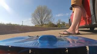 FPV remote control car high speed bicycle trail run