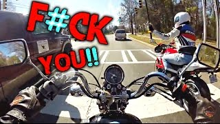 ROAD RAGE   EXTREMELY STUPID DRIVERS   DANGEROUS MOMENTS MOTORCYCLE CRASHES