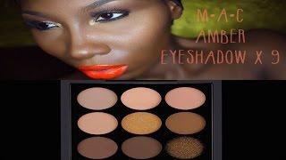 EYES On MAC Amber Eyeshadow X 9 Full Face Makeup