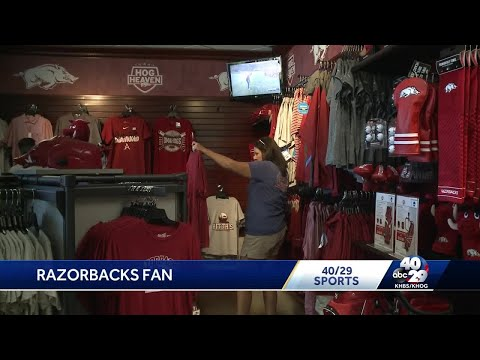 Arkansas fans snatching up College World Series gear
