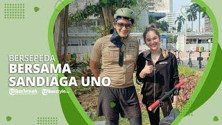 Hana Hanifah Naik Sepeda Bersama Sandiaga Uno: Semangat Pagi!