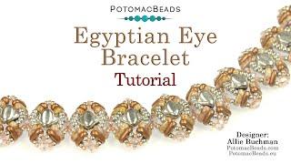 Egyptian Eye Bracelet- DIY Jewelry Making Tutorial By PotomacBeads