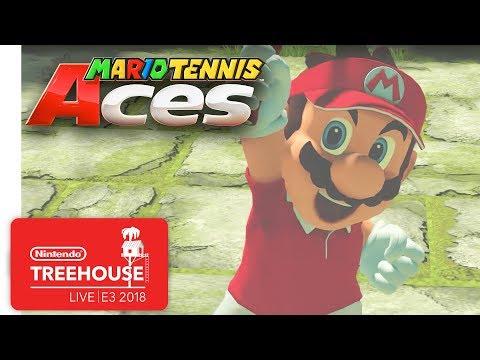 Mario Tennis Aces Gameplay Pt. 1 - Nintendo Treehouse: Live | E3 2018 thumbnail