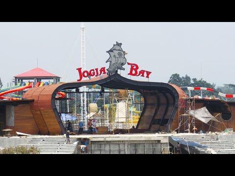 Keadaan Jogja Bay Waterpark Terbesar di Indonesia yang sedang dibangun