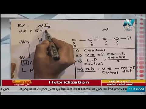 كيمياء لغات للصف الثاني الثانوي 2021 ( ترم 2 ) الحلقة 5 – Hybridization