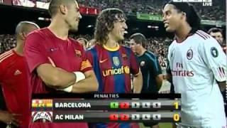 FC Barcelona vs AC Milan Penalty Shootout Trofeo Joan Gamper 25/08/10