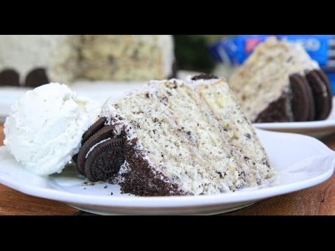 Video Homemade Cookies n Cream Cake w/ Oreo Buttercream Frosting