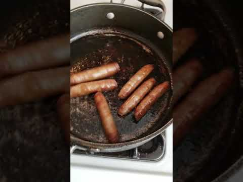 My breakfast sausages begged for their lives this morning. Listen to their cries for mercy.