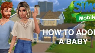 ADOPTING A BABY| Sims Mobile