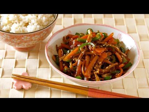 NO WASTE Shiitake Stems Kinpira (Vegetarian Sautéed Dish) 椎茸の軸のきんぴら – OCHIKERON – CREATE EAT HAPPY
