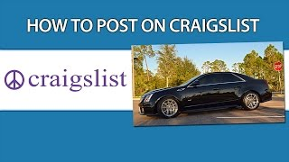 How To Post On Craigslist