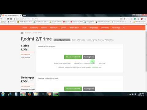 how to flash Redmi 6A (Flashing/Install Full Rom Via Miflash