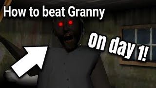 How to beat Granny on day 1! (Easy) [Horror Game] | Jirka LP