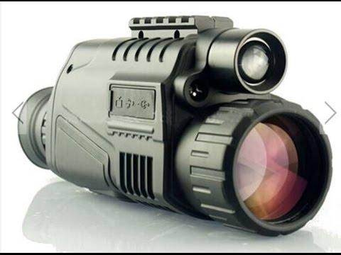 Visor Nocturno con grabación, pruebas y disparos