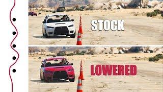 GTA V - Do Lowered Cars Handle Better?