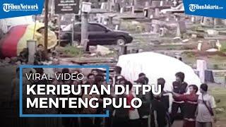 Petugas Makam Diduga Menenteng Senjata Api saat Keributan di TPU Menteng Pulo, Video Aksinya Viral