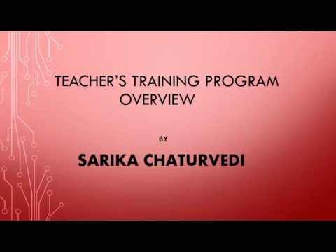 Teacher's Training Programme