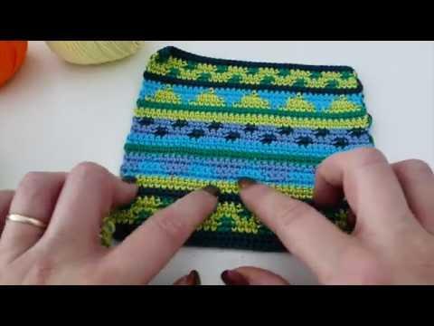 Tapestry Häkeln - Muster Streifengeometrie